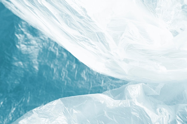青の抽象的なビニール袋のコンセプト 無料写真