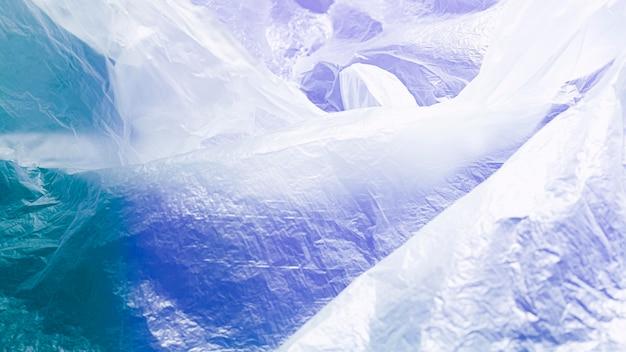 青の抽象的なビニール袋のコンセプト Premium写真