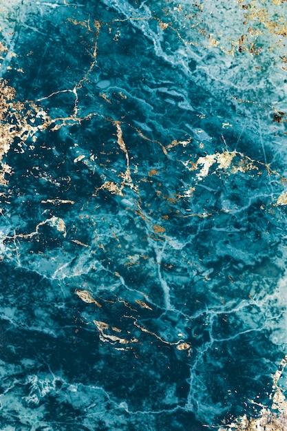 Синий и золотой мрамор с текстурой Бесплатные Фотографии
