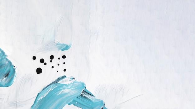 キャンバス上の青と白のストローク Premium写真