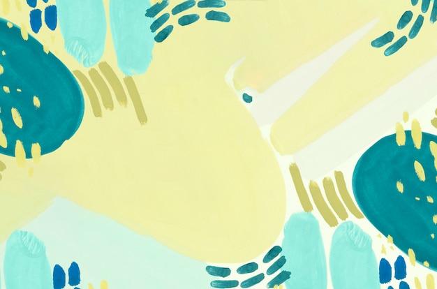 青と黄色のミニマリストの絵 Premium写真