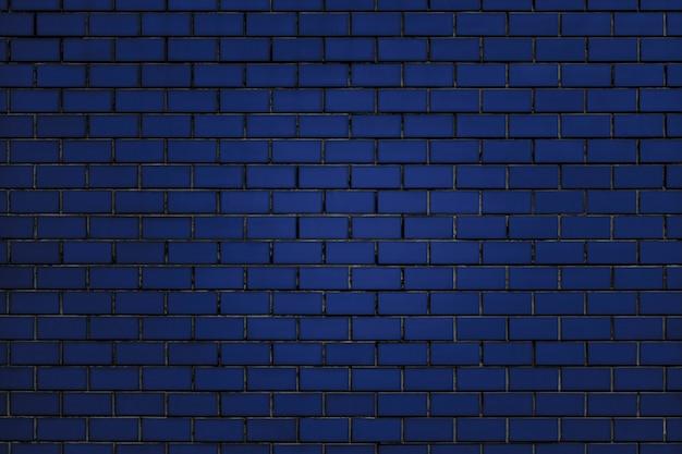 Blue brick wall background Free Photo