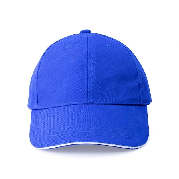 Blue cap isolated on white background. Premium Photo