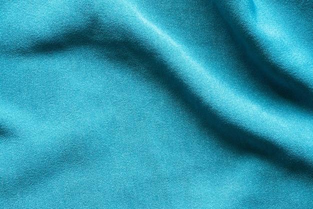 青い服生地の質感 Premium写真