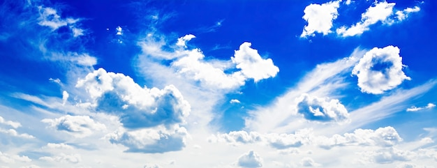 Blue cloudy sky. Free Photo