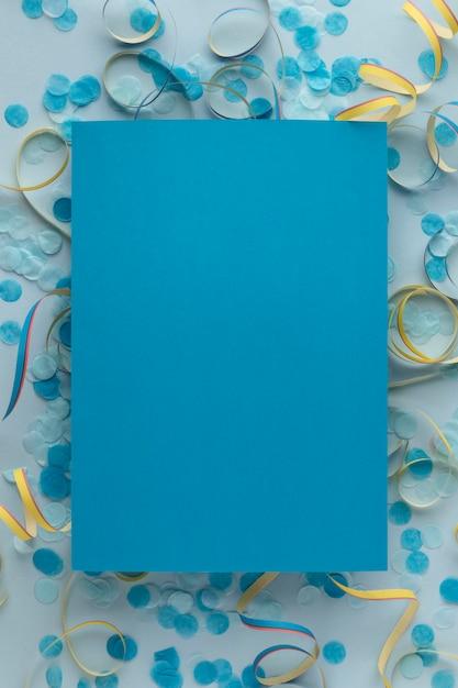 블루 복사 공간 종이와 색종이 무료 사진