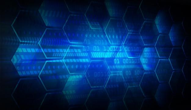Blue cyber circuit future technology concept background Premium Photo