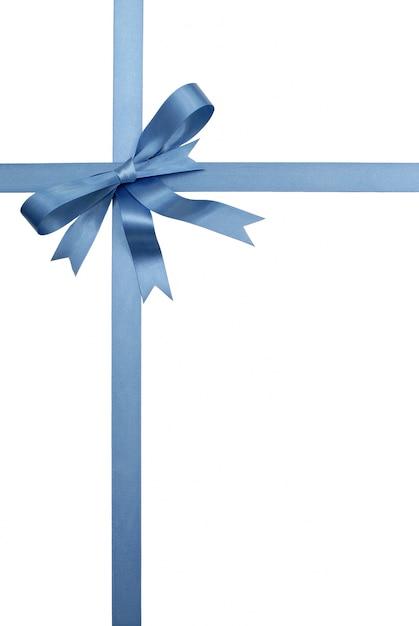 Blue decorative gift ribbon and bow photo free download blue decorative gift ribbon and bow free photo negle Images