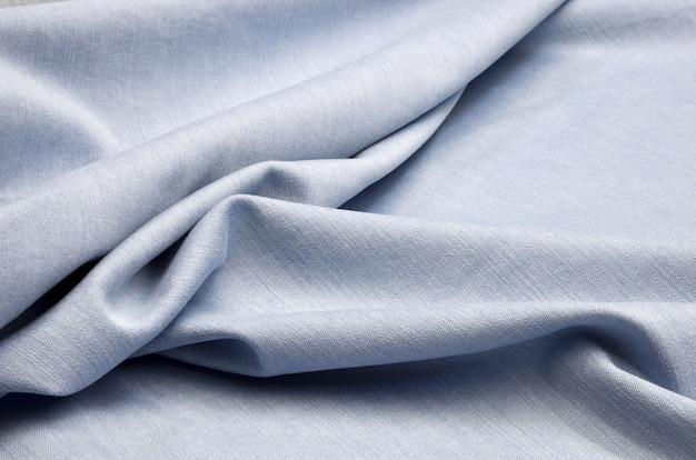 Blue denim fabric Premium Photo