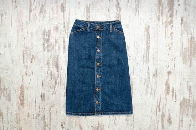 Blue denim skirt Premium Photo
