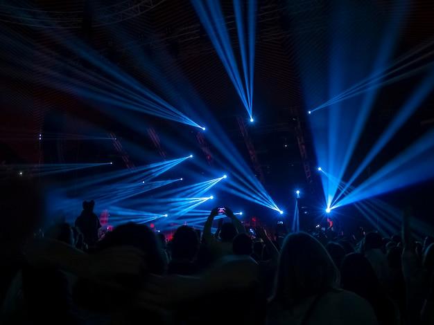 Синие огни диско Premium Фотографии