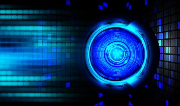 Blue eye cybersecurity background Premium Photo