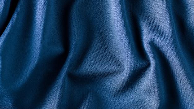 青い布のテクスチャ Premium写真