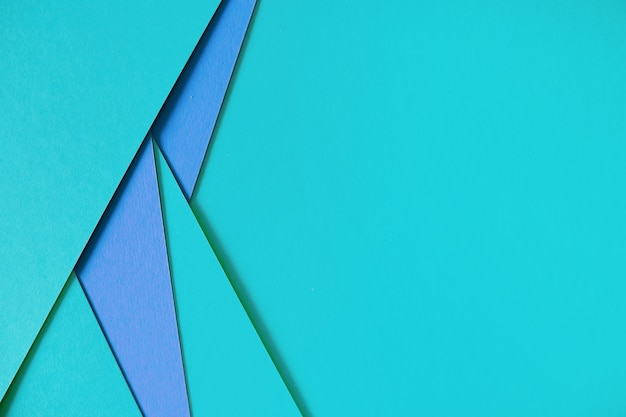 Blue geometric composition paperboard background with copyspace Free Photo