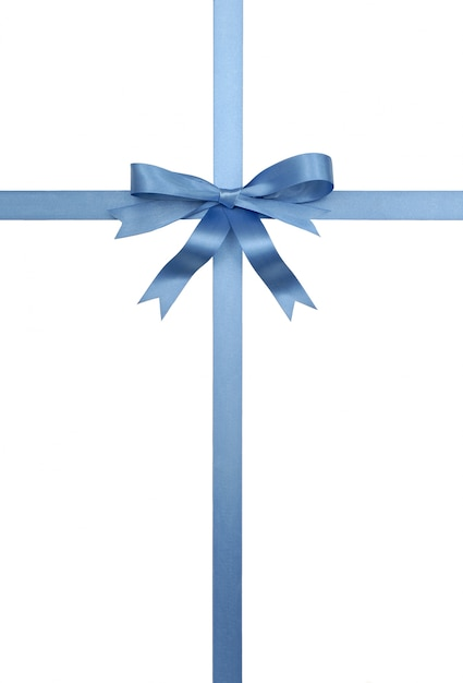 Blue gift ribbon and bow photo free download blue gift ribbon and bow free photo negle Images