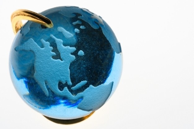 Blue glass globe Free Photo