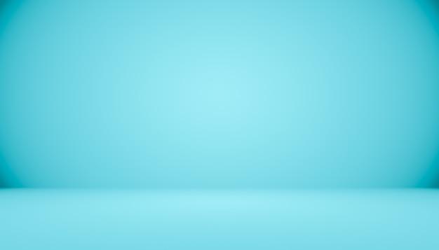 텍스트 및 그림에 대 한 공간을 가진 블루 그라데이션 추상 배경 빈 방. 프리미엄 사진