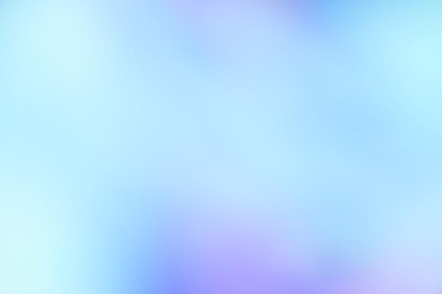 青いグラデーションの焦点がぼけた抽象的な写真の滑らかな線 Premium写真