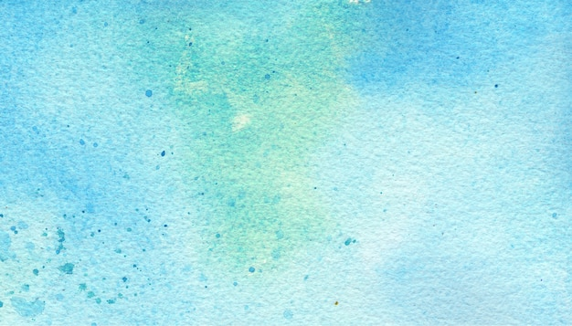 Blue & green watercolor background Premium Photo