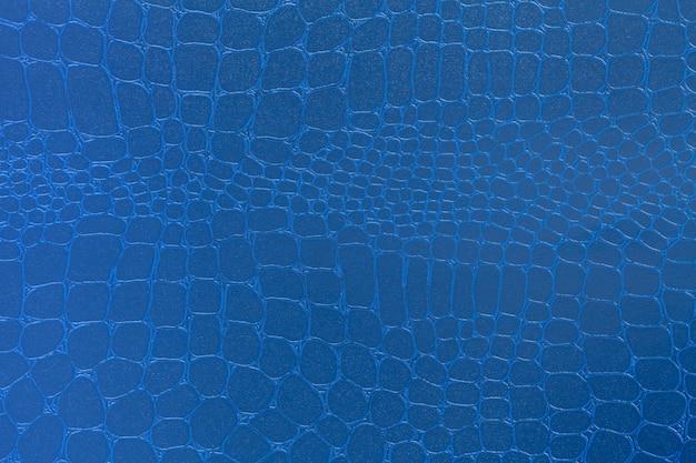 青い革テクスチャ背景、クローズアップ写真、 Premium写真