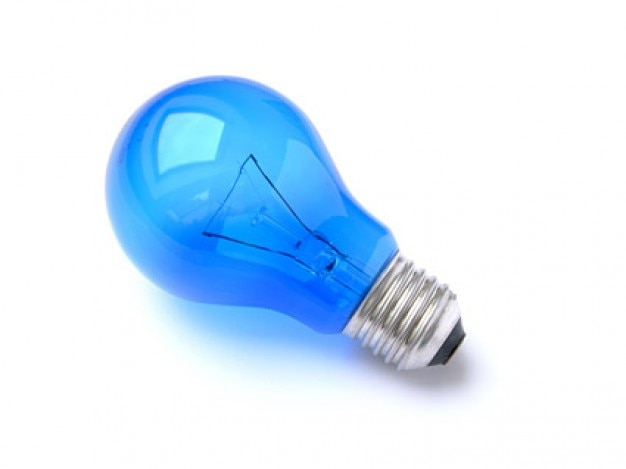 blue light bulb picture quality material Free Photo