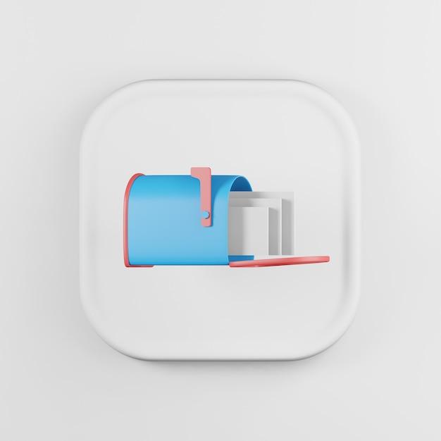 Иконка синий почтовый ящик с буквами мультяшном стиле. Premium Фотографии
