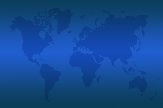 Blue map of the world Premium Photo