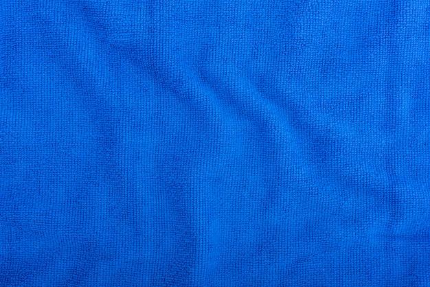 Синий фон ткани из микрофибры Premium Фотографии