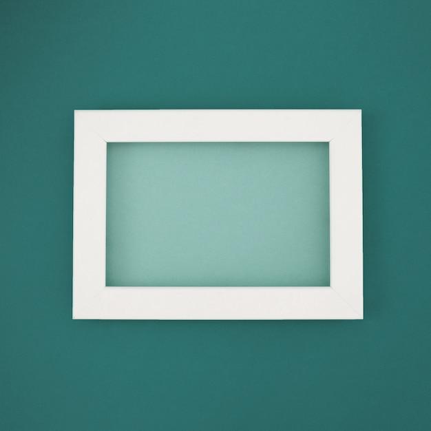 Blue minimal frame Free Photo