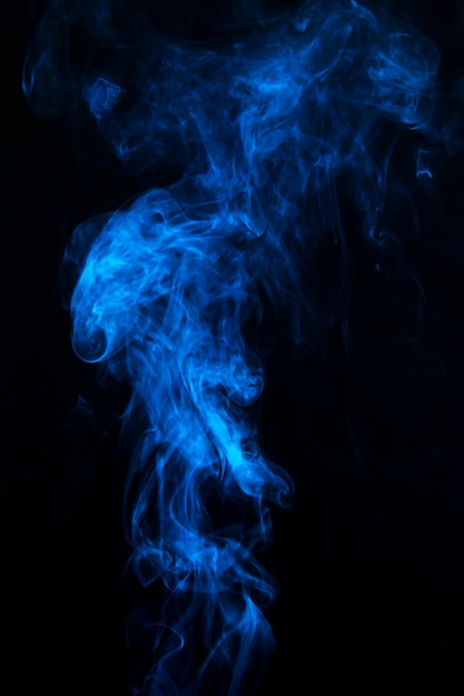 Blue mist or smog black background Free Photo