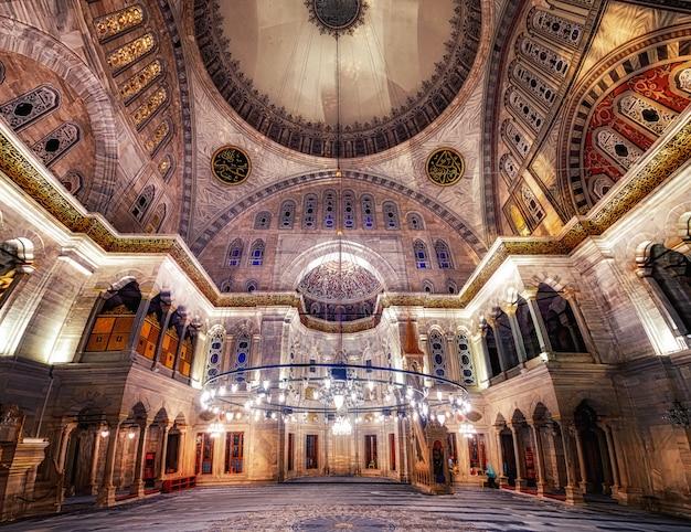 Blue mosque interior Premium Photo