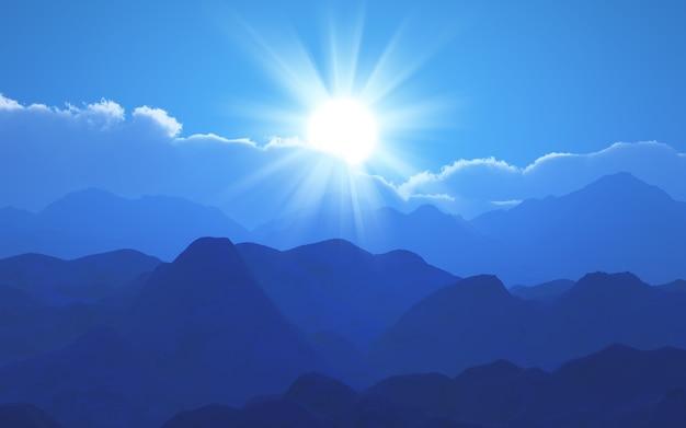 blue mountains landscape photo