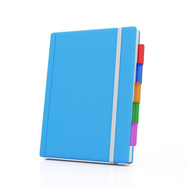 白地に青いノート Premium写真