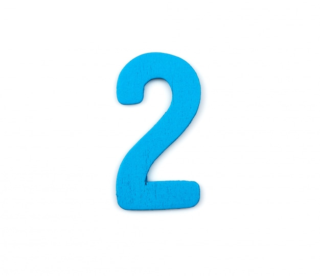Blue number two Free Photo