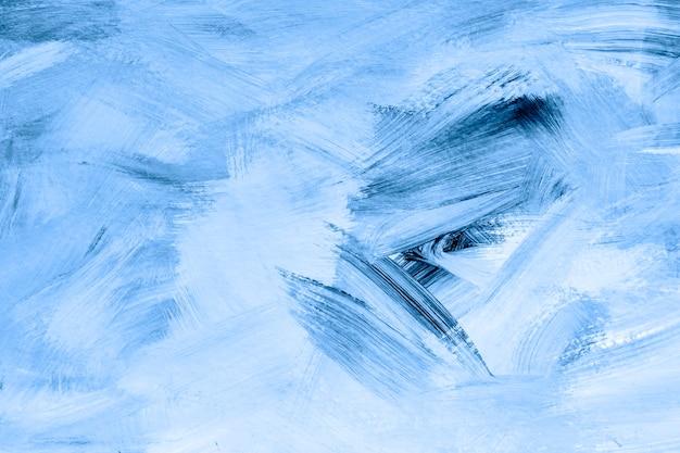 Blue paint brush textured background Free Photo