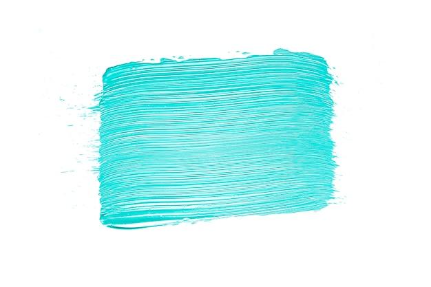 Blue paint smear on white Free Photo