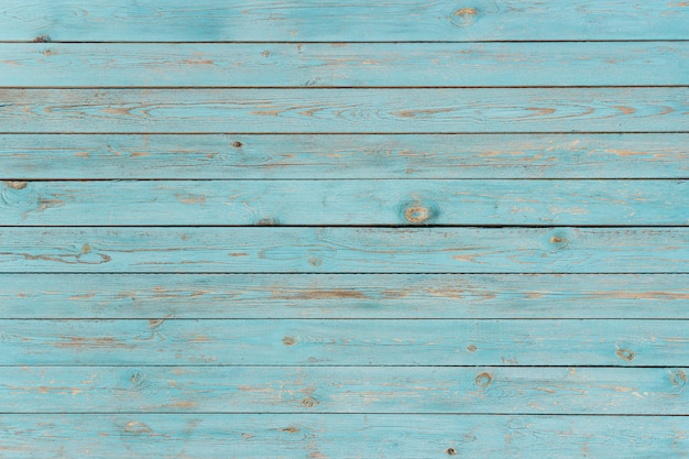 Blue painted wooden planks, background, texture Premium Photo