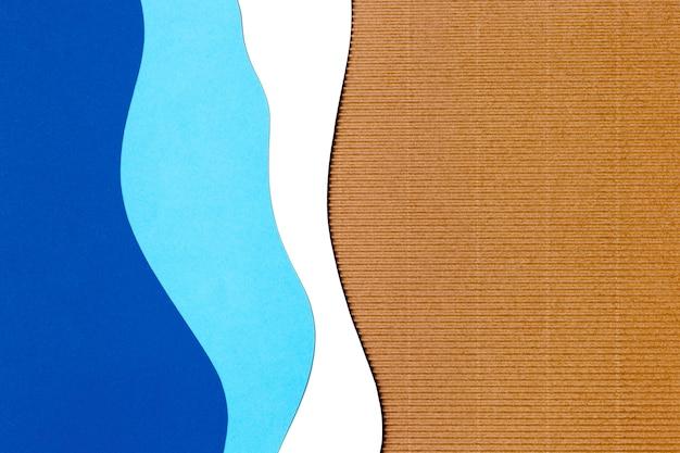 Синий фон формы бумаги Бесплатные Фотографии