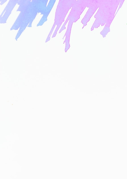 Blue and pink brush stroke on top of white background Free Photo