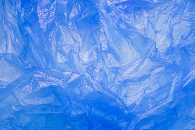 Blue plastic bag texture Premium Photo