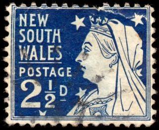 Blue queen victoria stamp  regal Free Photo