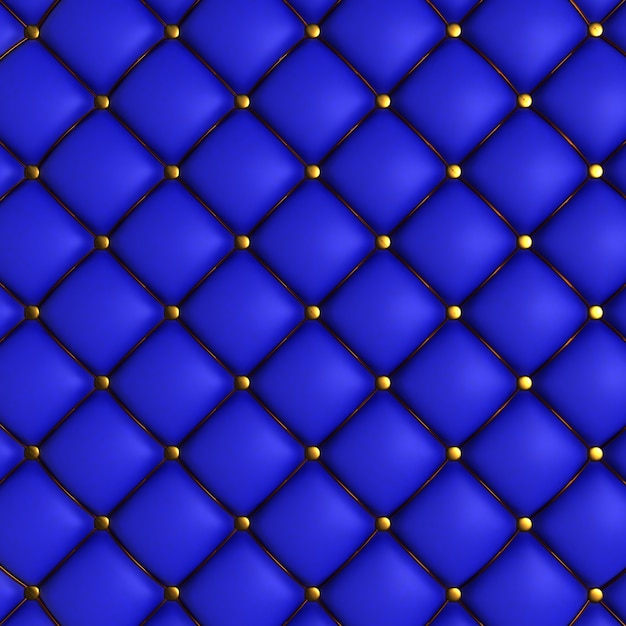 Blue quilted texture Free Photo