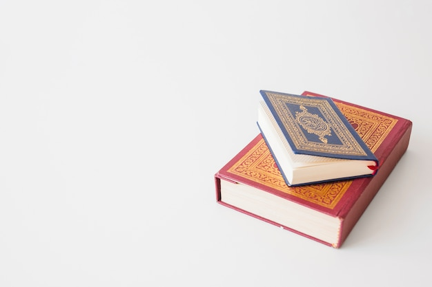 Blue and red religious book Free Photo