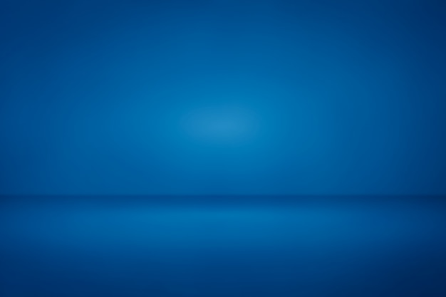 Blue room studio light gradient background us for backdrop Premium Photo