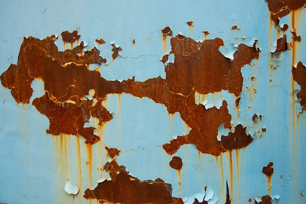 Blue rusty metal texture background Premium Photo