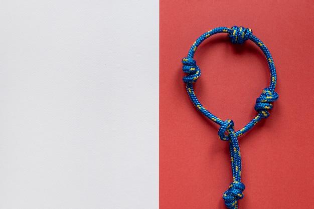 Синий матросский веревочный узел копией пространства Бесплатные Фотографии