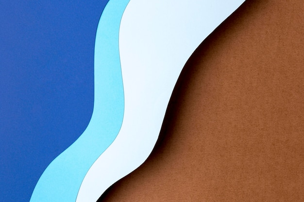 Blue shades paper shapes design Free Photo