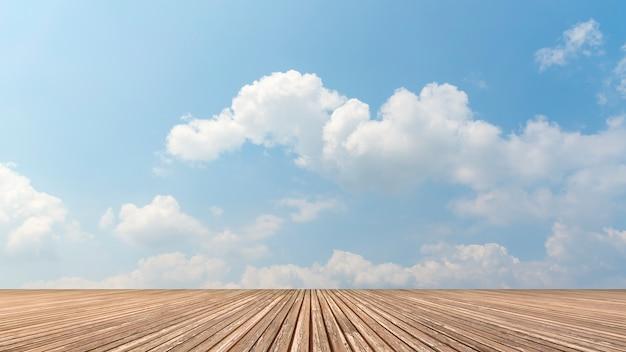 푸른 하늘과 구름 무료 사진