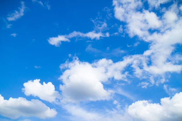 Blue sky and clouds in good weather days Premium Photo