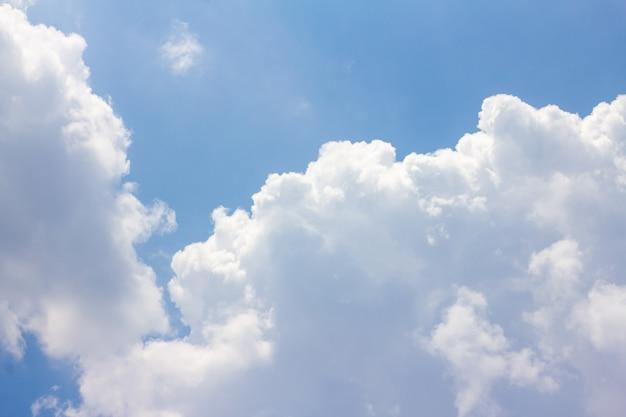 The blue sky has white clouds. Premium Photo